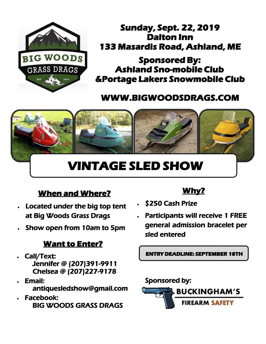 2019 Vintage Sled Show Flyer